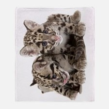 Clouded Leopard Cubs78 Throw Blanket