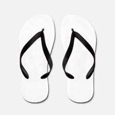helvetica_q_white Flip Flops