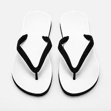 helvetica_o_white Flip Flops