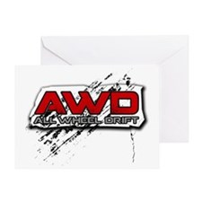 All Wheel Drift Greeting Card