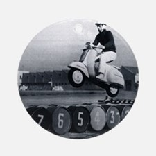 Stunt Scooter Round Ornament