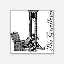 """Guillotine_head Square Sticker 3"""" x 3"""""""