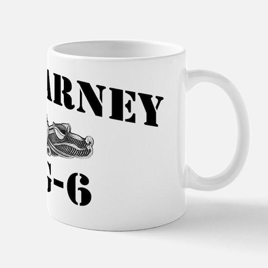 barney black letters Mug