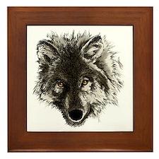 wolf port_dark Framed Tile