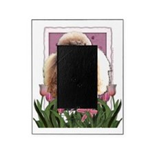 Pink_Tulips_Poodle_Chocolate Picture Frame