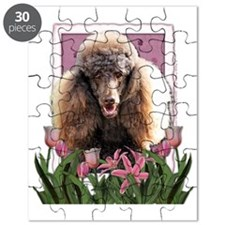 Pink_Tulips_Poodle_Chocolate Puzzle