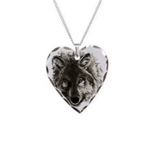 wolf port_dark Necklace Heart Charm