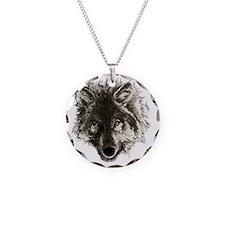 wolf port_dark Necklace Circle Charm