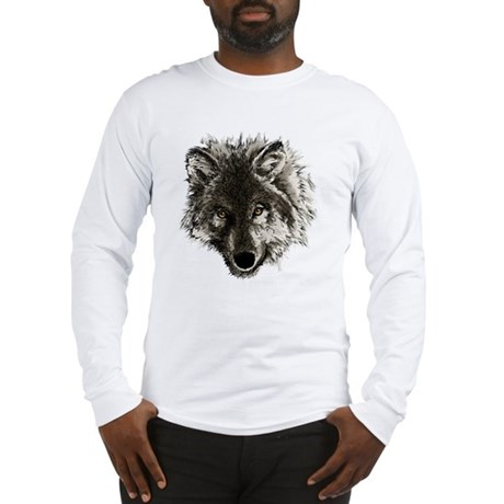 wolf port_dark Long Sleeve T-Shirt
