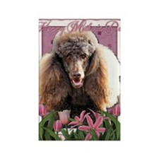 Mothers_Day_Pink_Tulips_Poodle_Ch Rectangle Magnet