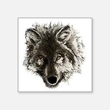 """wolf port_dark Square Sticker 3"""" x 3"""""""