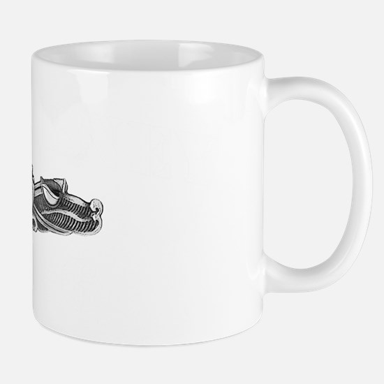 barney white letters Mug