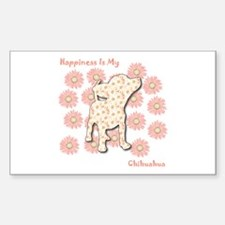 Chihuahua Happiness Rectangle Decal