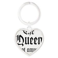 QueenAmused_D Heart Keychain