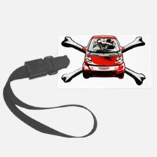 Smart Crossbones Red copy Luggage Tag
