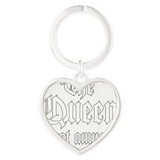 QueenAmused_L Heart Keychain