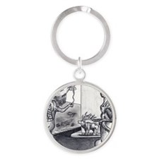 Gang of Elk Round Keychain