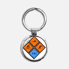 tri Round Keychain