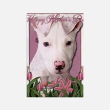 Mothers_Day_Pink_Tulips_Pitbull_P Rectangle Magnet