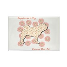 Shar-Pei Happiness Rectangle Magnet