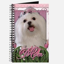 Mothers_Day_Pink_Tulips_Maltese_Mom Journal