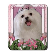 Mothers_Day_Pink_Tulips_Maltese Mousepad