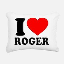Love Roger 2 Rectangular Canvas Pillow