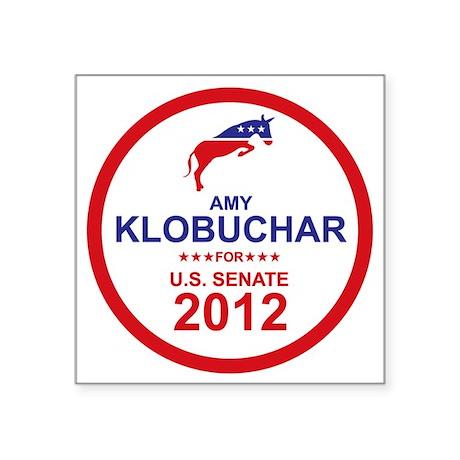 "2012_amy_klobuchar_main Square Sticker 3"" x 3"""