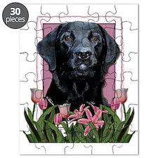 Pink_Tulips_Labrador_Black_Gage Puzzle
