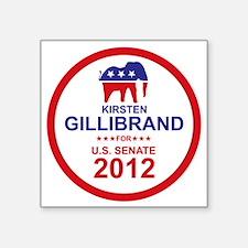 """2012_kirsten_gillibrand_mai Square Sticker 3"""" x 3"""""""