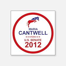 "2012_maria_cantwell_main Square Sticker 3"" x 3"""