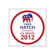 """2012_orrin_hatch_main Square Sticker 3"""" x 3"""""""