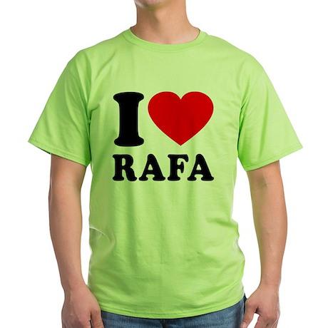 Love Rafa 2 Green T-Shirt
