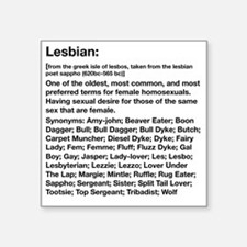 "Lesbian Definition.eps Square Sticker 3"" x 3"""