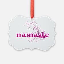 namaste_pink_sticker Ornament