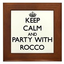 Keep Calm and Party with Rocco Framed Tile