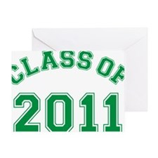 class-of-2011_green Greeting Card