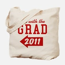 with-the-grad-2011_left Tote Bag