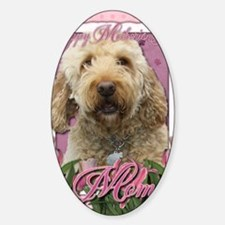 Mothers_Day_Pink_Tulips_Goldendoodl Decal