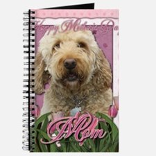 Mothers_Day_Pink_Tulips_Goldendoodle_Mom Journal