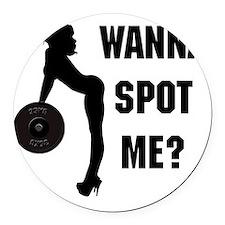 wanna Round Car Magnet