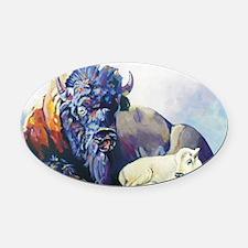 white buffalo legend Oval Car Magnet