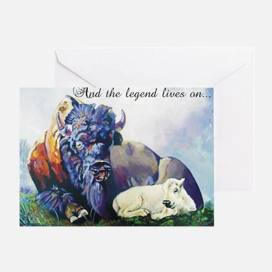 white buffalo legend Greeting Card
