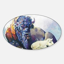 white buffalo legend Sticker (Oval)