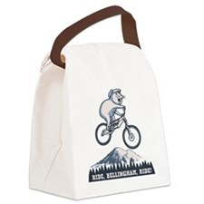 bike-bham-T Canvas Lunch Bag