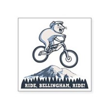 "bike-bham-T Square Sticker 3"" x 3"""