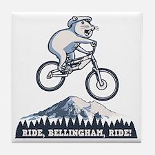 bike-bham-T Tile Coaster