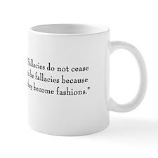 "G. K. Chesterton ""Fallacies"" Mug"