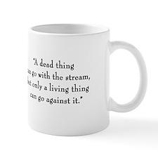 "G.K. Chesterton ""Living Thing"" Mug"