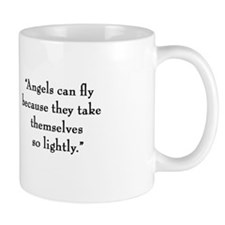 "G.K. Chesterton ""Angels"" Mug"